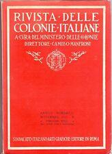 RIVISTA DELLE COLONIE ITALIANE - FASCISTA ANNO X - 1931 - FASCISMO - 80 PAGINE