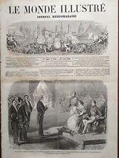 LE MONDE ILLUSTRE 1860 N 158 TROUBLES EN ESPAGNE: LES DEPUTES DEVANT LA REINE