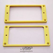 2 CONTOURS HUMBUCKER CREAM FLAT Top Bottom 5+2mm Pickup Mounting Rings SET MR-5C