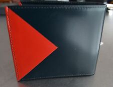 NWT Rare Paul Smith Men's Multi-Color Leather Billfold and Coin Wallet