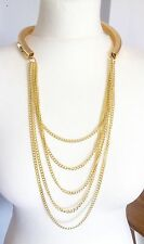 Gold Long drape Chain Fashion Statement Sexy Necklace Xmas party gift idea