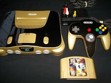Gold & Black Metallic Nintendo 64 N64 Ready to Play! Custom Paint! Must See!