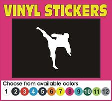 Karate MMA Martial Arts Kick boxing car truck window vinyl decal sticker