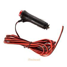 12V 24V Car Cigarette Lighter Socket Power Supply 3m Cord Adapter Plug Switch