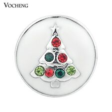 Vocheng 18mm 3 Colors Christmas Tree Metal Snap Button Jewelry Vn-871