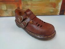 Vintage Dr Martens 8185 brown Mary Jane 2 buckle leather shoes UK 4/ Women US 6