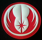 STAR WARS JEDI ORDER RED & WHITE 3D PVC Velcro Badge Morale Military Patch