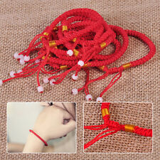New 10x Braided Lucky Red String Love Rope Cord Jude Beaded Adjustable Bracelet