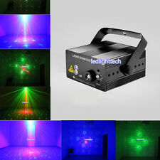 3 Lens 40 Patterns RG Laser BLUE LED Stage lamp DJ show Lighting system for bar