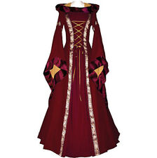 Medieval Dress Womens Vintage Victorian Renaissance Gothic Dress Costume Hooded