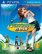 Everybody's Golf (PS VITA) PEGI Rating Age 3 & over New & Factory Sealed