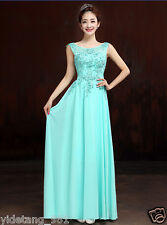 New Green Long Chiffon Bridesmaid Evening Formal Party Ball Gown Prom Dress Y02