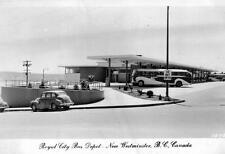 Photo. 1952-3. New Westminster, BC Canada. Royal City Bus Depot