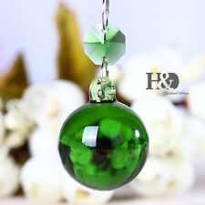 1 Green Hanging Suncatcher Crystal Round Ball Prism Lighting Drops Pendants 30mm