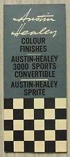 Austin healey couleur graphique c1961 #2161B 3000 sports cabriolet & sprite