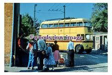 gw0129 - Bournemouth Trolleybus at Christchurch Turntable in 1959 - photograph
