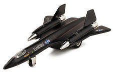 Black Air Force SR-71A Blackbird Die Cast Jet Plane Toy w.Pull Back Action 8""