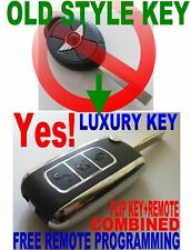 LUXURY FLIP KEY REMOTE  TO MINI COOPER NEW CHIP NEVER BEEN CODED TRANSPONDER FOB