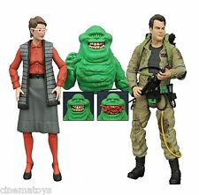 Ghostbusters Diamond Series 3 Set Slimer Quittin' Time Ray Janine Action Figures