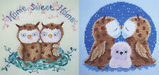 Set of two Owl Counted Cross Stitch Kits - Home Sweet Home & True Love