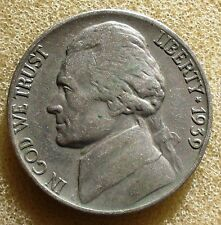 1939-P Jefferson Nickel   Fine     'Free Shipping'