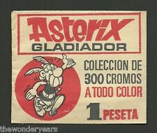 Asterix Gladiador Sealed Pack of 3 Spanish 1969 Cards