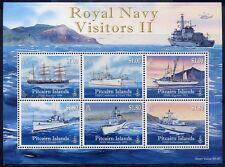Pitcairn 2010 Schiffe Ships Navi Bateaux Royal Navy II Kriegsschiffe Bl.56 MNH