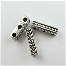10 New Charms Tibetan Silver Wheat 3-Hole Spacer Bar Beads 4x15mm