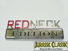 """""""REDNECK EDITION"""" Chrome Decal Logo Emblem Badge Sticker to fit all Pontiac cars"""