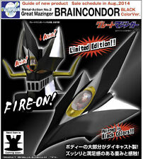 EVOLUTION TOY METAL ACTION NO.2 GREAT MAZINGER HEAD BRAIN CONDOR BLACK COLOR