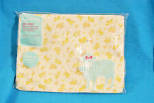 VINTAGE NEW CARTER'S CRIB SHEET - FITTED 100% COTTON KNIT - SQUIRRELS/BUNNY