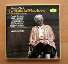 DG 2740 251 Verdi Un Ballo In Maschera Placido Domingo Abbado 3xLP NEAR MINT