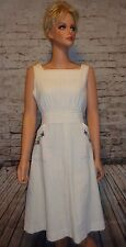 Vintage 70's Jumper Dress Cotton Gauze Boho Hippie JCPenney Size M EUC