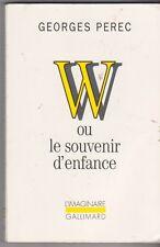 W ou Le souvenir d'enfance - Georges Perec - L'imaginaire Gallimard 2004 . 2708
