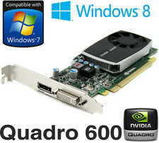 nVidia Quadro 600 1GB DDR3 PCI-E DisplayPort DVI Graphics Card PWG0F