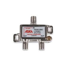 ASKA TG2G-2DC 2-Way Wideband Satellite Splitter 1 Port Power Passive Combiner