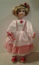 "Paradise Galleries ""CANDY CANE"" 15"" tall porcelain doll - MINT"