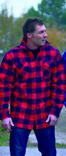 Kanadisches Holzfäller Hemd Jacke Größe M  Rot - Schwarz kariert Red/Black