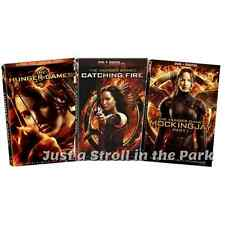 The Hunger Games Mockingjay Part 1, Catching Fire Movie Series Complete DVD Sets