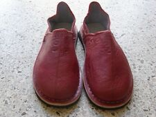 Moroccan Hand Made Red Leather Shoes Size 8,9,10
