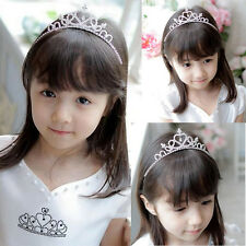 Fashion Kid Girl Bridal Crown Rhinestone Crystal Tiara Princess Prom Headband