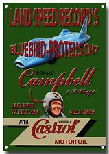 BLUEBIRD-PROTEUS CN7 LAND SPEED RECORD'S METAL WALL SIGN.DONALD CAMPBELL.