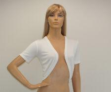 Womens Short Sleeve Bolero Cardigan Jacket Size 8 to 24