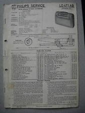 Philips LD471AB Annette 471 Kofferradio Service  Manual Ausgabe 02/57