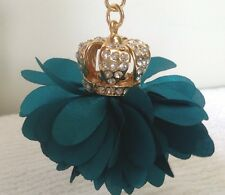 Crystal Crown Flower Charm Car Key Key Chain Key Ring