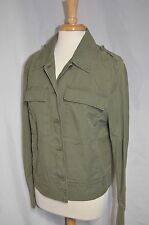 Gap Womens Military Olive Green 100% Cotton Jacket size Large ret $69.95