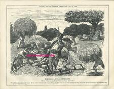 1876 Punch Cartoon Suburban Joys - Haymaking in Hot Weather