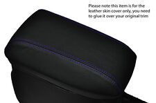 PURPLE STITCH ARMREST LEATHER SKIN COVER  FITS TOYOTA AURIS 2012-2015