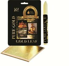 Adhesive size leafing Pen kit with 20 gold Leaf Sheets arts craft lettering