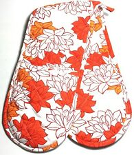 MagicHands, Pretty Floral, Long Double Oven Glove, Mitts, Insulated, 100% Cotton